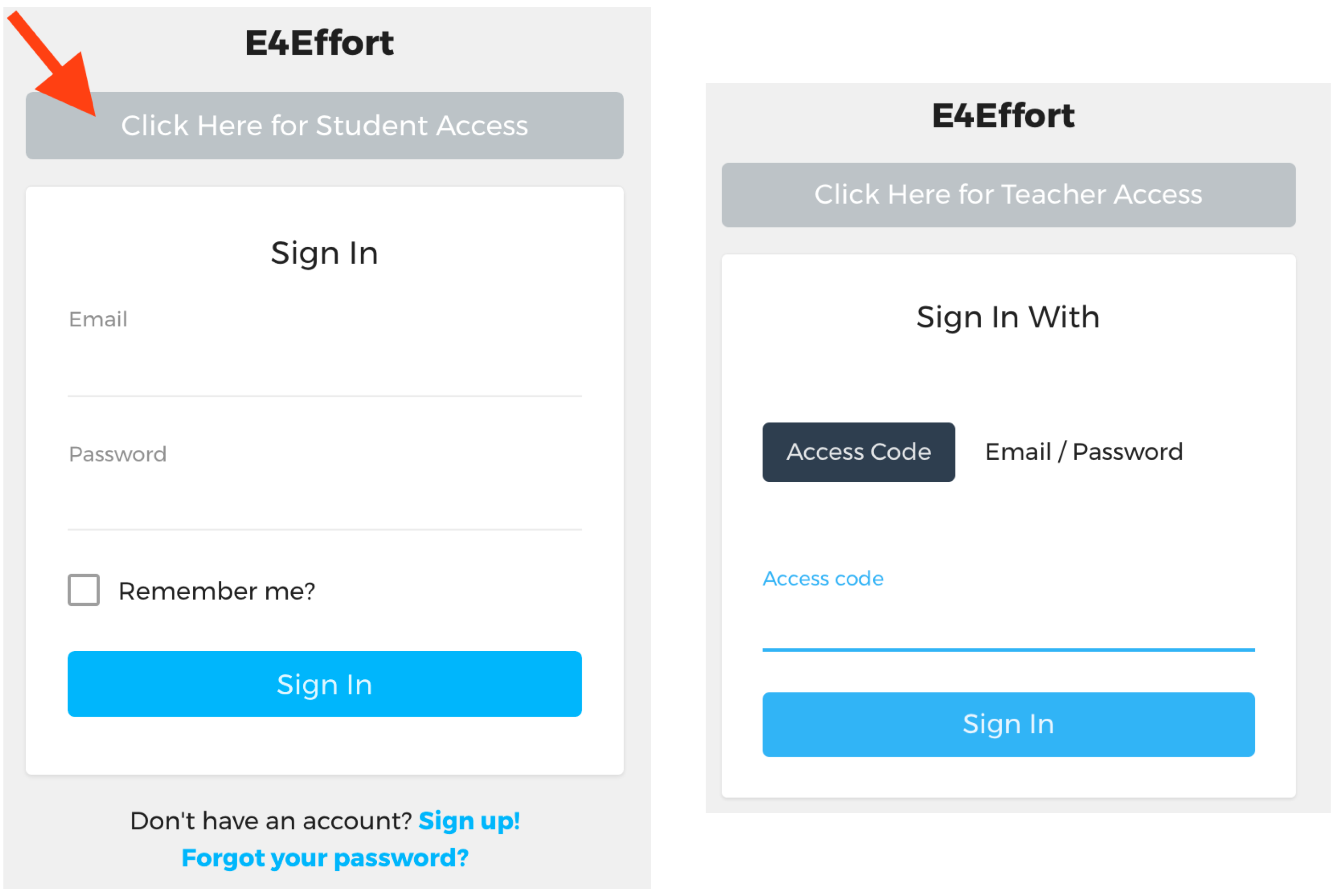 How to sign in to your portal | E4Effort