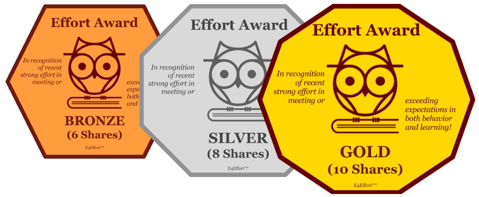 Recognition e4effort if you are sticking with the free bronze plan in lieu of badges you may want to give recognition winners a small effort award certificate yelopaper Image collections
